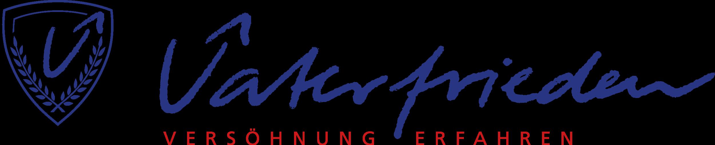Vaterfrieden Logo_Slogan_Wappen_2021_Blau_RGB
